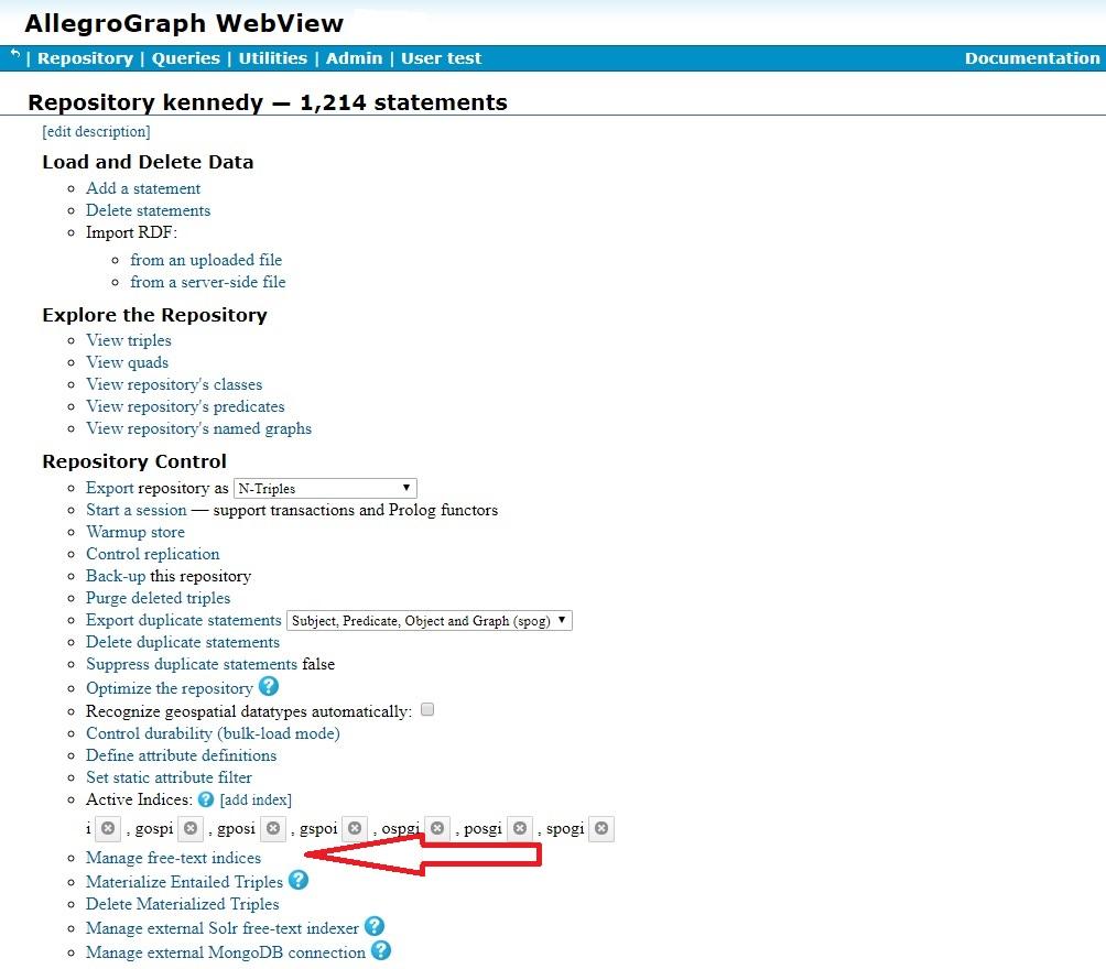 AllegroGraph WebView